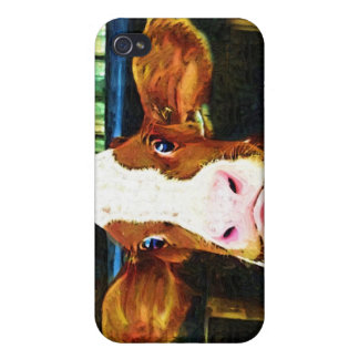 Funny Cow Face Covers For iPhone 4