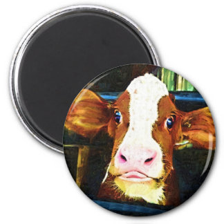 Funny Cow Face Refrigerator Magnets