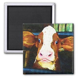 Funny Cow Face Fridge Magnet