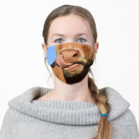 Funny Cow Face Mask