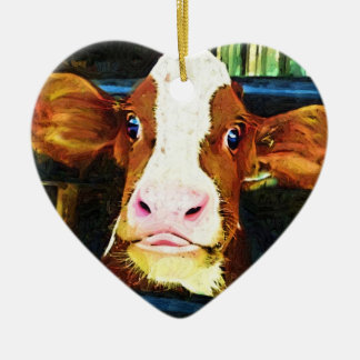 Funny Cow Face Ornaments