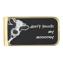 Funny Cow Gold Finish Money Clip