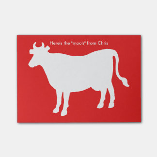 """Funny Cow """"Here's the Moo's"""" Post-it® Notes"""