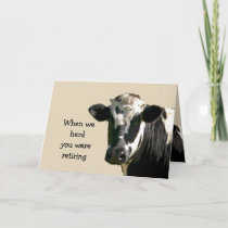 Funny Cow Humor Retirement Laughs from Group Card