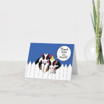 Funny Cow Moosicians Personalize Thank You Card