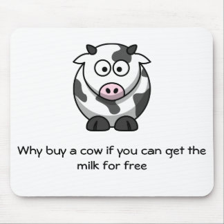 Funny Cow Mouse Pad