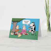 Funny Cow Needs More Cowbell Birthday Card
