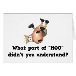 Funny cow notecards stationery note card
