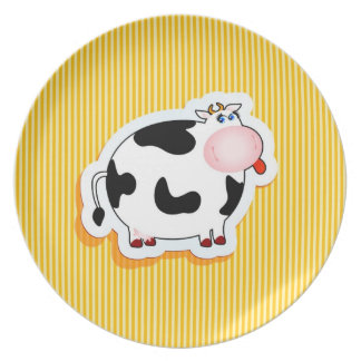 Funny cow, plate