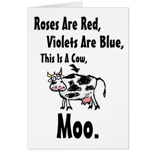 Funny cow poem birthday card zazzle funny cow poem birthday card bookmarktalkfo Images