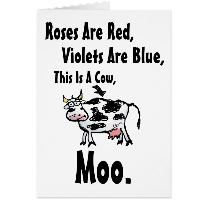 Funny Birthday Wishes Poems Write Birthday Card Funny: Funny Cow Poem Birthday Card