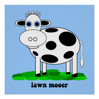 funny cow poster
