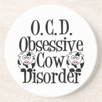 Funny Cow Sandstone Coaster