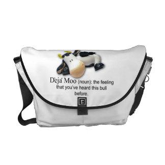 Funny Cow Saying Messenger Bag