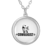 Funny Cow Silver Plated Necklace