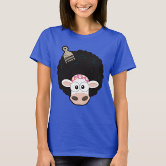 Funny Cow with an Afro and Comb T-Shirt