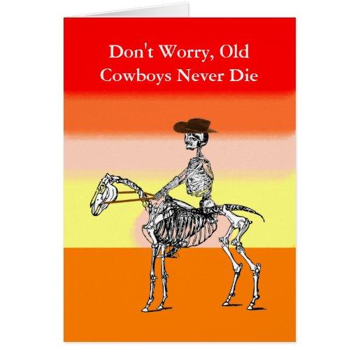 Funny cowboy birthday card   Zazzle