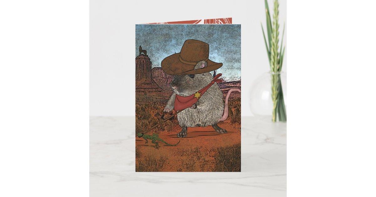 Funny Cowboy Birthday Card
