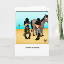 Funny Cowboy Humor Greeting Card