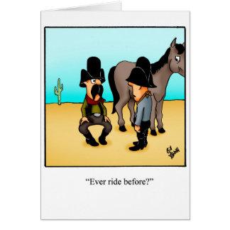 Funny Cowboy Humor Greeting Card