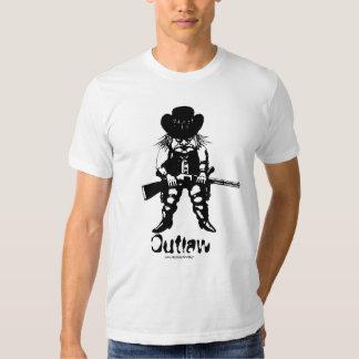 Funny cowboy outlaw t-shirt design