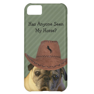 Funny Cowboy Pug Dog Case For iPhone 5C