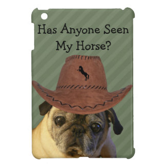 Funny Cowboy Pug Dog iPad Mini Covers