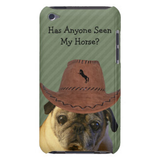 Funny Cowboy Pug Dog iPod Touch Cover