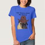 Funny Cowboy Pug Dog T Shirt