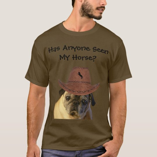 Funny Cowboy Pug Dog T-Shirt