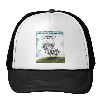 Funny Cows Bovinna Mooterial Girl Offbeat Gifts Trucker Hat