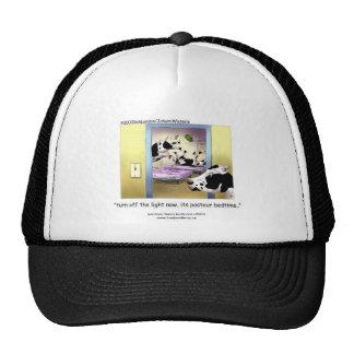 "Funny Cows: Cap: ""Pasteur Bedtime"" Trucker Hat"