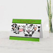 Funny Cows Christmas Holiday Card