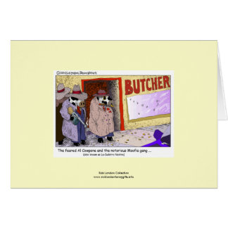Funny Cows: Cow Mafia Al Cowpone Greeting Card