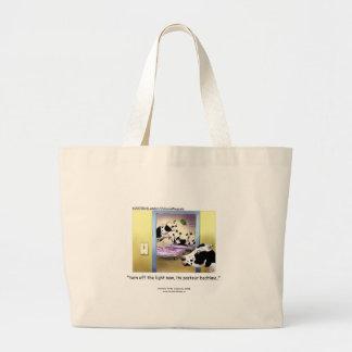 "Funny Cows: Tote Bag ""Pasteur Bedtime"""