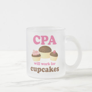 Funny CPA Certified Public Accountant Frosted Glass Coffee Mug