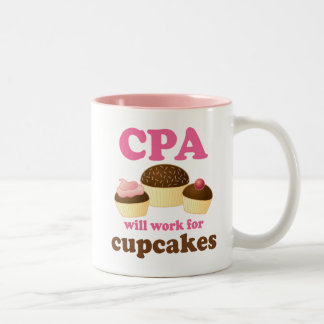 Funny CPA Certified Public Accountant Two-Tone Coffee Mug