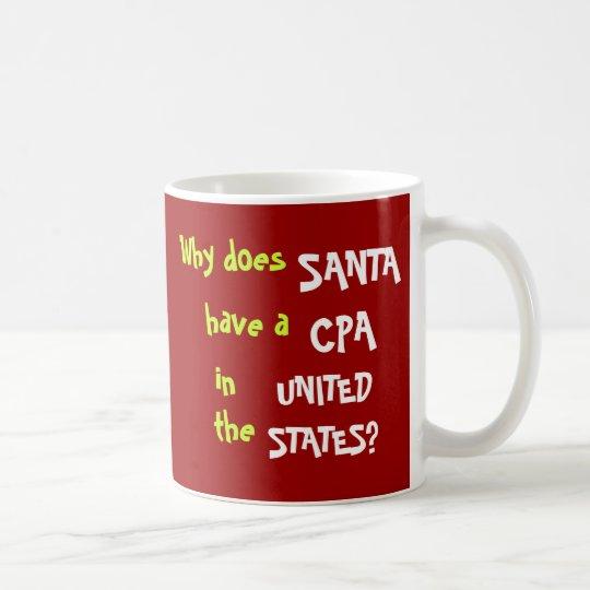 Funny CPA Tax Christmas Joke USA Coffee Mug