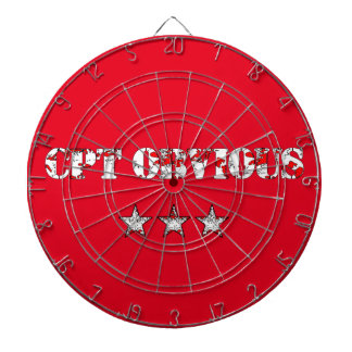 Funny Cpt Obvious and army stars Dartboard