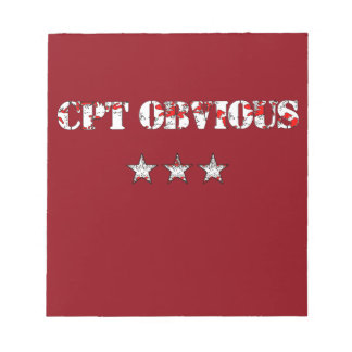 Funny Cpt Obvious and army stars Notepad