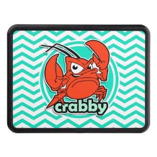 Funny Crab; Aqua Green Chevron Hitch Cover