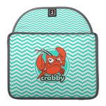 Funny Crab; Aqua Green Chevron Sleeve For MacBook Pro
