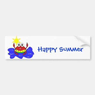 funny crab Bumper Sticker Car Bumper Sticker