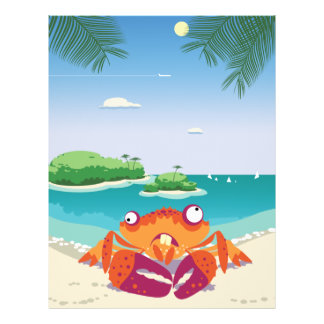 Funny Crab Full Color Flyer