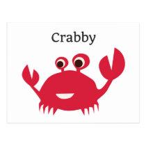 Funny Crab Grumpy Postcard