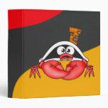 Funny Crab Pirate Binders
