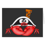 Funny Crab Pirate Stationery Note Card