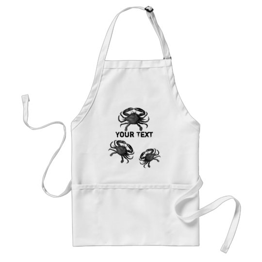 Funny Crab Template Seafood Apron