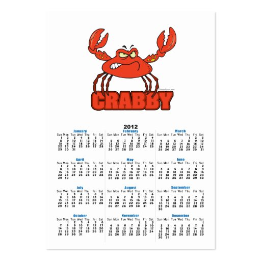 funny crabby red crab business card templates