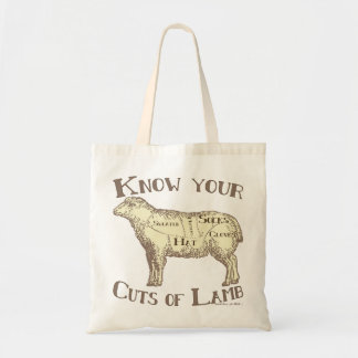 Funny Craft Know your cuts of lamb Budget Tote Bag
